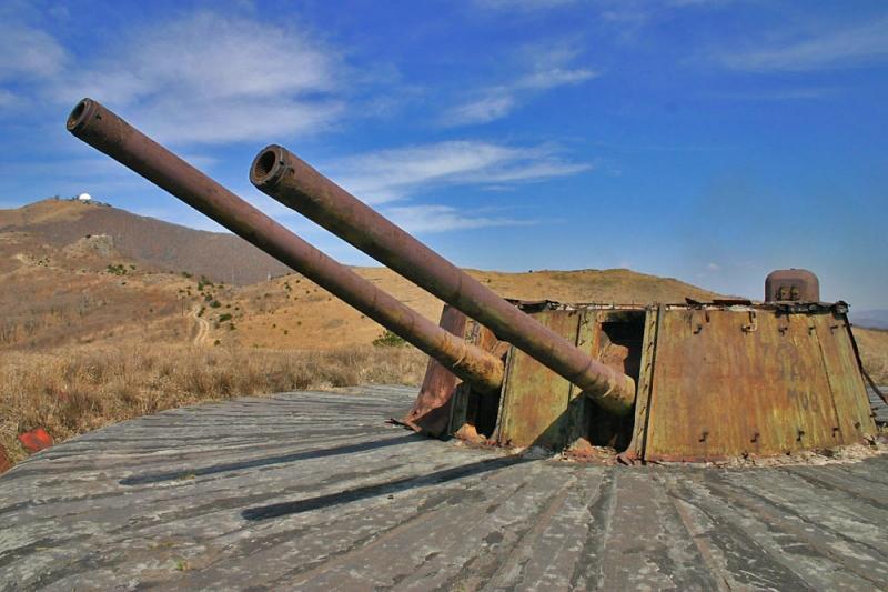 Артиллерийская батарея на мысе Гамова